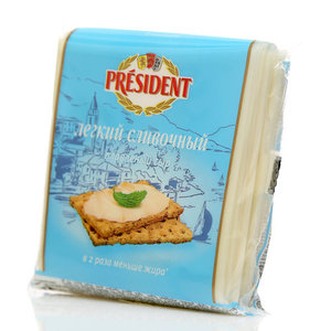 Сыр Мастер Бутерброда Легкий ломтики ТМ President (Президент)