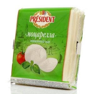 Сыр Мастер Бутерброда Моцарелла ломтики ТМ President (Президент)