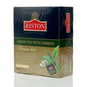 Чай зеленый ТМ Riston (Ристон) с жасмином, 100 пакетиков