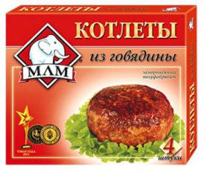 Котлеты серия Вкусные из говядины ТМ МЛМ Котлеты