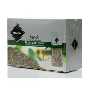 Чай зеленый ТМ Rioba (Риоба) зеленый сенча, 20 пакетиков для заваривания в чайниках