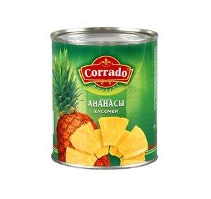 Ананасы кусочки ж/б  850 (12) Corrado