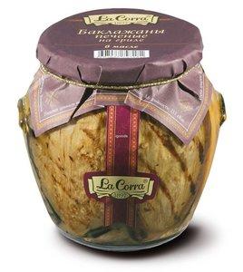 Баклажаны печеные на гриле в масле с/б twist-off 580 (12) La Corra