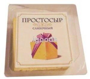 Сыр Сливочный 50% в нарезке ТМ Простосыр