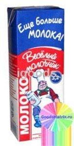 Молоко ультрапастеризованное 3,2% ТМ Веселый Молочник