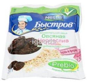 Каша моментальная Овсяная Чернослив 6 пакетиков ТМ Быстров без добавления сахара с отрубями