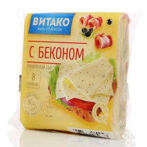 Сыр плавленый с беконом ломтики 50%  ТМ Витако