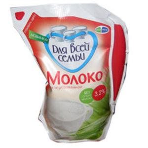 """Молоко """"Для всей семьи"""" пастеризованное стерилизованное 3,2%"""