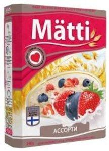 Каша овсяная моментального приготовления Ассорти ТМ Matti (Матти)