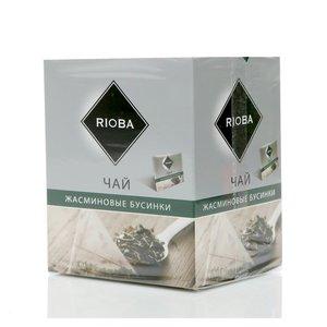 Чай зеленый Жасминовые Бусинки ТМ Rioba (Риоба), 20 пакетиков