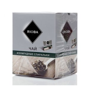 Чай зеленый байховый ТМ Rioba (Риоба) изумрудные спиральки, 20 пакетиков