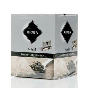 Чай черный ТМ Rioba (Риоба) Янтарная Улитка, 20 пакетиков