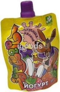 Йогурт детский клубника- малина 2,5% ТМ Здрайверы