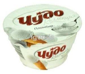 Творожок десерт творожный Пломбир 5,4% ТМ Чудо