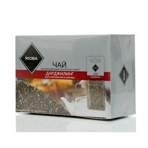 Чай черный ТМ Rioba (Риоба) Дарджилинг, 20 пакетиков для заваривания в чайниках