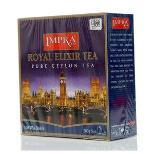 Чай черный Королевский Эликсир с ярлычком ТМ Impra (Импра),100 пакетиков