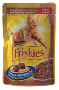 Корм полнорационный для взрослых кошек, с индейкой и зеленой фасолью ТМ Friskies (Фрискис)