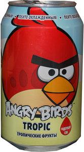 Напиток безалкогольный сильногазированный ТМ Angry Birds тропические фрукты
