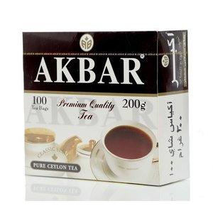 Чай черный ТМ Akbar (Акбар) Классическая серия, 100 пакетиков