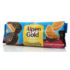 Печенье бисквитное Апельсин Chocolife ТМ Alpen Gold (Алпен Голд)