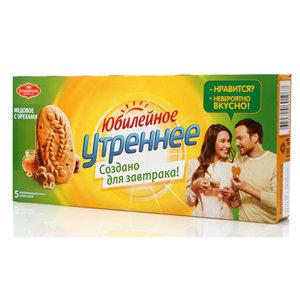 Печенье Утреннее медовое с орехами ТМ Юбилейное