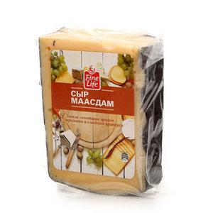 Сыр Маасдам 45% ТМ Fine Life (Файн Лайф)