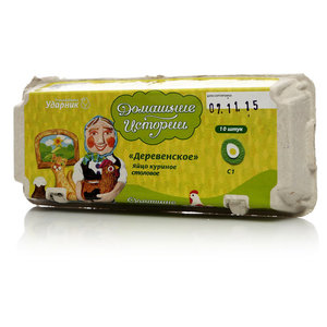Яйцо куриное Деревенское C1 ТМ Домашние Истории, 10 шт.