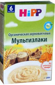 Каша органическая зерновая ТМ Hipp Мультизлаки