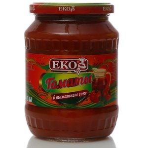 Томаты неочищенные в томатном соке, консервы стерилизованные ТМ EKO (Эко)