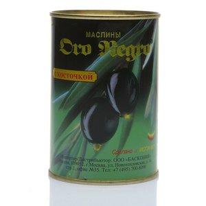 Маслины черные с косточкой ТМ Oro Negro (Оро Негро)