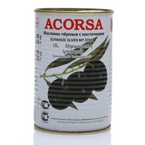 Оливки черные с косточкой ТМ Acorsa (Акорса)
