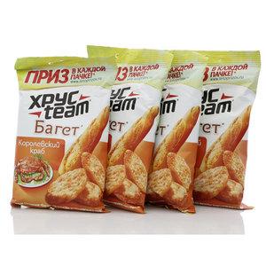 Сухарики Багет со вкусом королевского краба 4*40г ТМ Хрус Теам (Хрус Тим)
