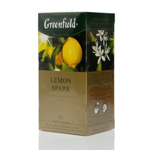 Чай черный байховый ТМ Greenfield (Гринфилд) Lemon Spark, 25 пакетиков