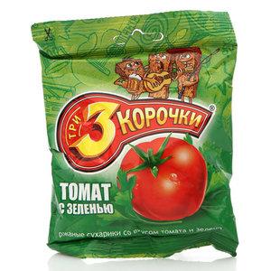 Сухарики ржаные со вкусом томата и зелени ТМ 3 Корочки