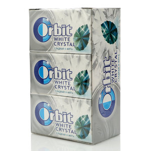 Жевательная резинка Сладкая мята 15 пачек ТМ Orbit White crystal (Орбит Уайт кристал)