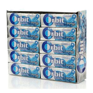 Жевательная резинка освежающая мята 30 пачек ТМ Orbit White (Орбит Уайт)