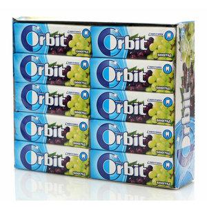 Жевательная резинка виноград 30 пачек ТМ Orbit (Орбит)