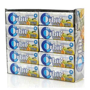 Жевательная резинка Фруктовый коктейль 30 пачек ТМ Orbit White (Орбит Уайт)