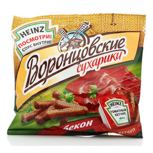 Сухарики со вкусом бекона, соус внутри ТМ Воронцовские