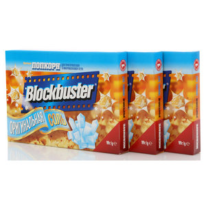 Попкорн Оригинальная соль 3*99г ТМ Blockbuster (Блокбастер)