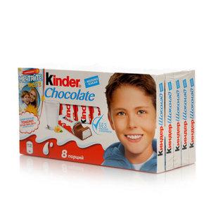 Шоколад молочный с начинкой 5*20г ТМ Kinder Chocolate (Киндер Чоколат)