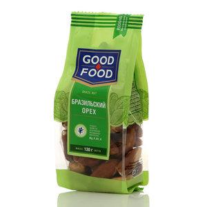 Бразильский орех ядра сушеные ТМ Good Food (Гуд Фуд)