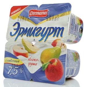 Йогурт яблоко-груша 7,5% ТМ Эрмигурт