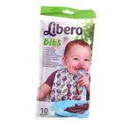 Одноразовые детские нагрудники с карманом для крошек Libero Bibs ТМ Libero (Либеро), 10 шт