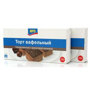 Торт вафельный глазированный с арахисовой начинкой 2*230г ТМ Aro (Аро)