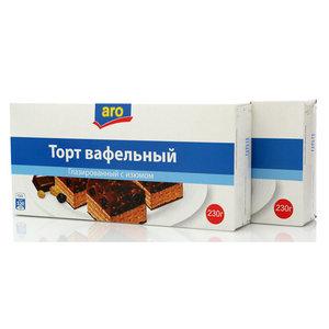 Торт вафельный глазированный с изюмом ТМ Aro (Аро), 2*230г