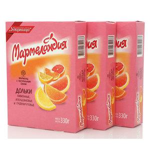 Мармелад ТМ Мармеландия лимонные, апельсиновые и грейпфрутовые дольки
