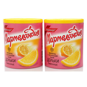 Мармелад лимонный дольки, 2*250г ТМ Мармеландия