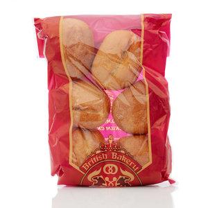 Булочка пшеничная (без обсыпки) ТМ British Bakery (Бритиш Бейкери) 6*30г