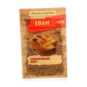 Сыр Эдам 40% нарезка ТМ Золото Европы